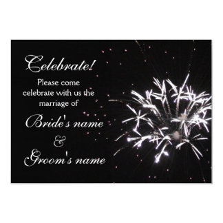 "Celebration Wedding 5"" X 7"" Invitation Card"