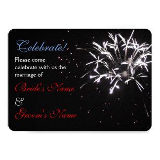 Celebration Wedding red/white/blue 2 Card