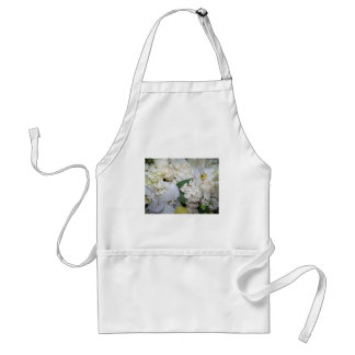 Celebration,White Roses & Orchies_ Adult Apron