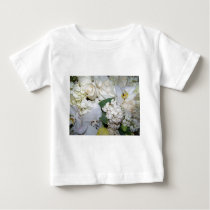 Celebration,White Roses & Orchies_ Baby T-Shirt
