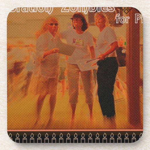 """""""Celebration ZOMBIES for Peace"""" Beverage Coasters"""