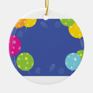 CELEBRATIONS BLUEPRINT Add your GREETINGS Ceramic Ornament