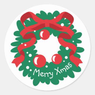 Celebrations Street - Christmas Classic Round Sticker
