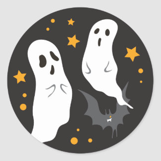 Celebrations Street - Halloween (black) Classic Round Sticker