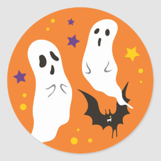 Celebrations Street - Halloween (orange) Classic Round Sticker