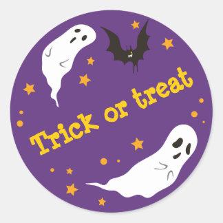 Celebrations Street - Halloween (purple) Classic Round Sticker