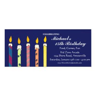 "Celebratory Candles Invitation 4"" X 9.25"" Invitation Card"