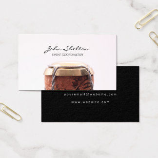 Celebratory Champagne Bottle Business Card