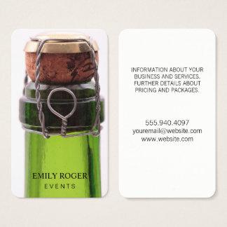 Celebratory Champagne Bottle Business Card