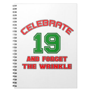 Celebre 19 y olvide la arruga libretas
