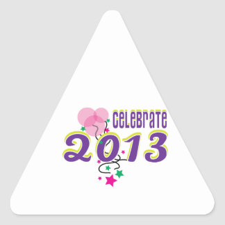 Celebre 2013 calcomanías de trianguladas