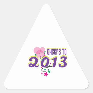 Celebre 2013 calcomanías trianguloes personalizadas