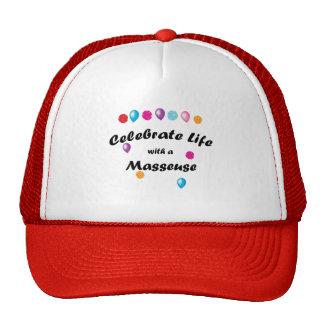 Celebre a la masajista gorras de camionero