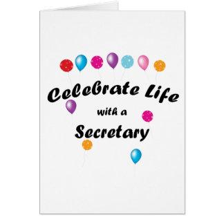 Celebre a la secretaria tarjeta