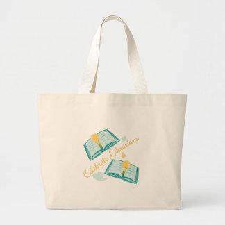 Celebre a los bibliotecarios bolsa tela grande