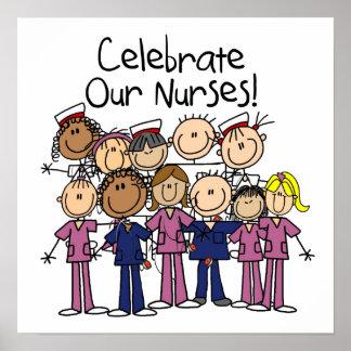 Celebre a nuestras enfermeras poster