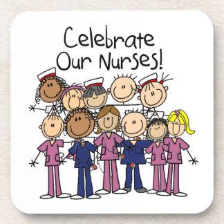 Celebre a nuestras enfermeras posavasos