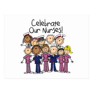 Celebre a nuestras enfermeras postal