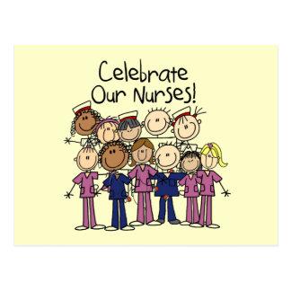 Celebre a nuestras enfermeras tarjetas postales