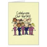 Celebre a nuestras enfermeras tarjetón