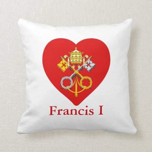 ¡Celebre a nuevo papa Francisco el primer! Cojines