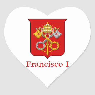 ¡Celebre a nuevo papa Francisco el primer! Pegatina En Forma De Corazón