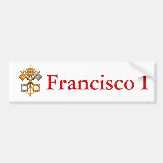 ¡Celebre a nuevo papa Francisco el primer! Pegatina Para Auto