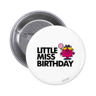 Celebre a pequeña Srta. Birthday Pin Redondo 5 Cm