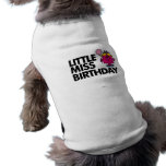 Celebre a pequeña Srta. Birthday Playera Sin Mangas Para Perro