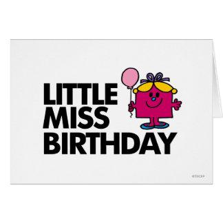 Celebre a pequeña Srta. Birthday Tarjeta De Felicitación