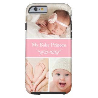 Celebre a princesa recién nacida Photo Collage de Funda Resistente iPhone 6