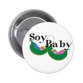 Celebre a su bebé de la soja pin redondo de 2 pulgadas