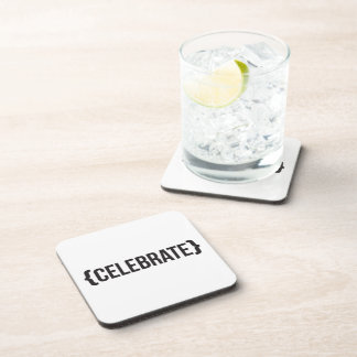 Celebre - acorchetado - blanco y negro posavasos de bebida