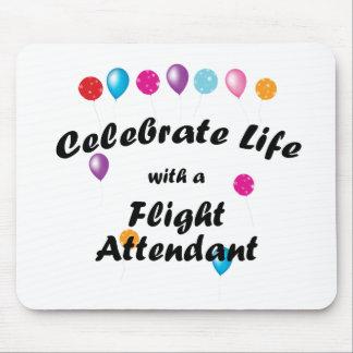 Celebre al asistente de vuelo alfombrillas de raton
