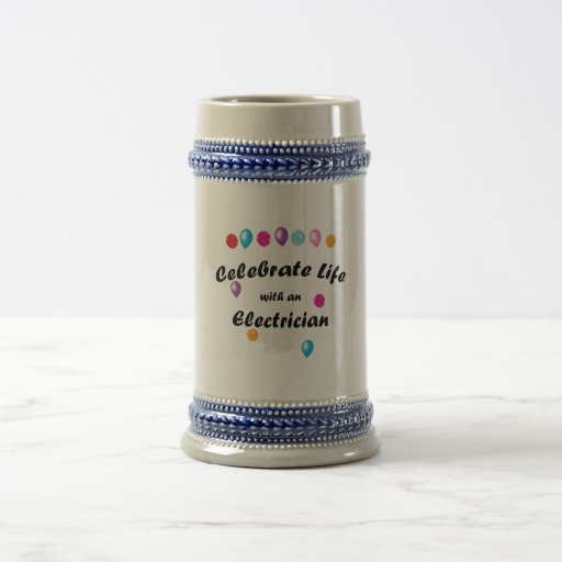Celebre al electricista tazas de café