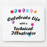 Celebre al ilustrador técnico tapete de ratones