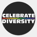 Celebre al pegatina negro de la diversidad