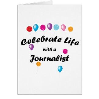 Celebre al periodista tarjeta pequeña