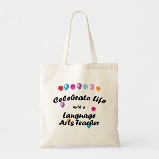 Celebre al profesor de artes de lengua bolsa