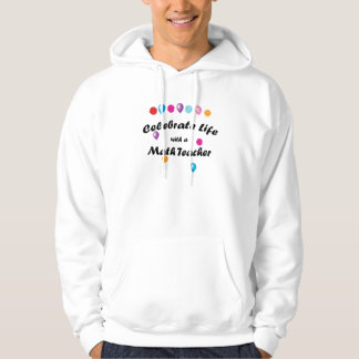 Celebre al profesor de matemáticas suéter con capucha
