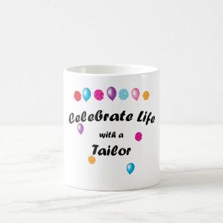 Celebre al sastre tazas de café