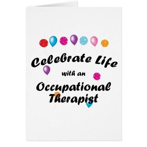 Celebre al terapeuta profesional felicitacion