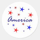 Celebre América Etiquetas Redondas
