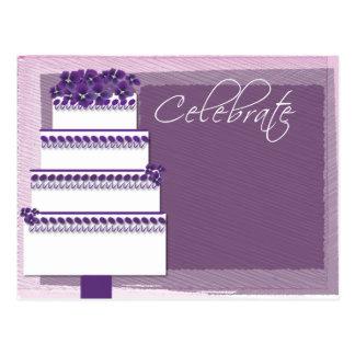 ¡Celebre - con la torta! Postal