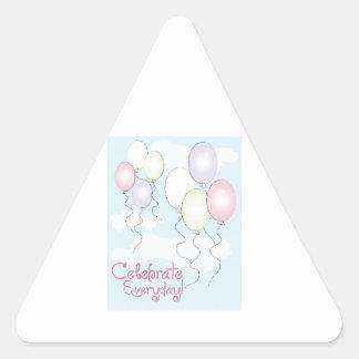 ¡Celebre diario! Pegatina Triangular