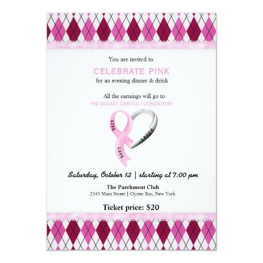 Celebre el acontecimiento rosado comunicado personalizado