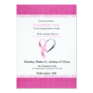 """Celebre el acontecimiento rosado invitación 5"""" x 7"""""""