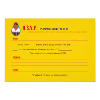 Celebre el acontecimiento RSVP de la cultura y de Invitación 8,9 X 12,7 Cm