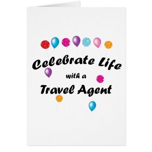 Celebre el agente de viajes felicitación