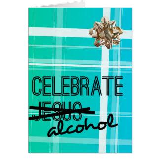 Celebre el alcohol tarjeta de felicitación